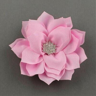 Fiore Rosa con strass