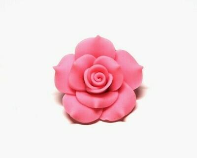 Fiore fimo Rosa intenso 2 pz