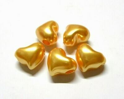 Cuore perlato giallo oro