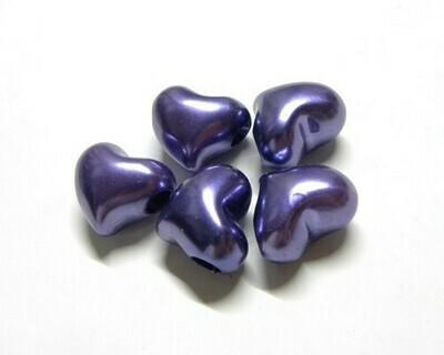 Cuore perlato viola