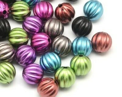 Palline metallizzate Mix color 15 Pz