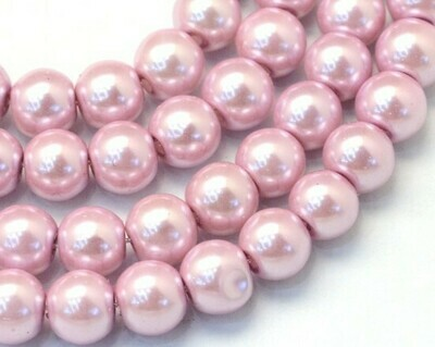 Filo di Perle in vetro Rosa antico 8 mm