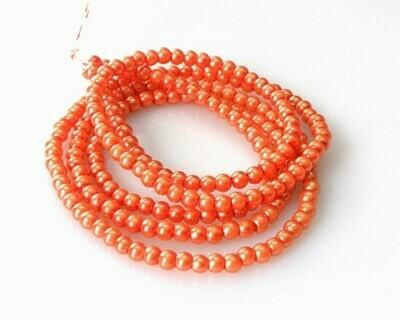 Verto perlato Arancio 4 mm