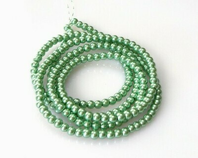 Verto perlato Verde Chiaro 4 mm