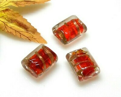 Perle Bauletto 20x15x11 mm Rosso 4 pz