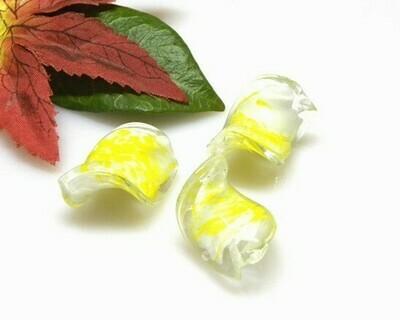 Perle in vetro Elica Limone 28x18 mm-2 pz