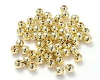 Palline in metallo Oro 4-5-6-8 mm