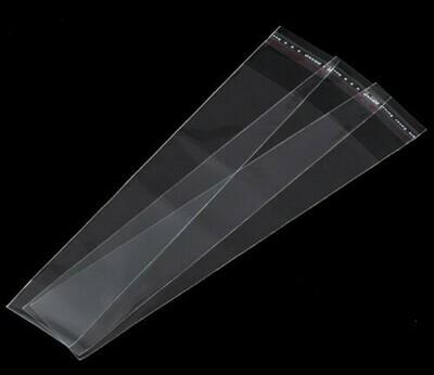 Bustina con chiusura adesiva 19x5 cm - 50 pz