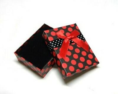 Scatola regalo 8x5 cm Nero/Rosso - 2 pz