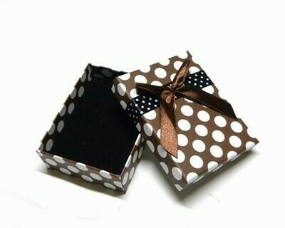 Scatola regalo 8x5 cm Marrone/Bianco - 2 pz