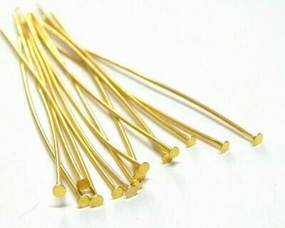 Chiodini Testa Piatta Oro 6-7 cm