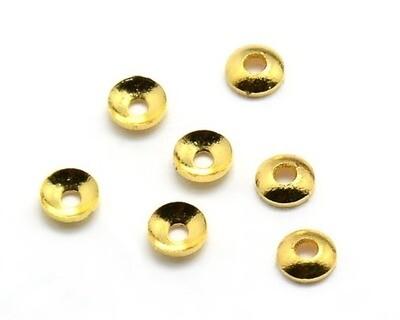 Coppette Lisce Oro 4-6 mm