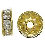 Separatore rotelline strass Argento 4-6-8-10 mm