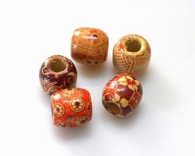 Perle in legno stampato