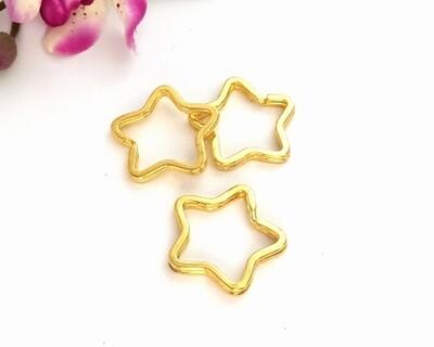 Anelli portachiave a stella oro