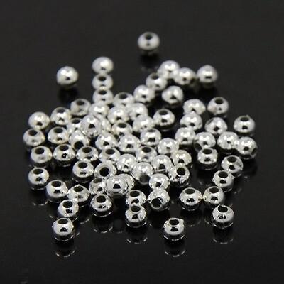 Palline in Argentone 3-4-6 mm Silver