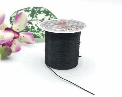 Filo elastico piatto per bracciali Nero