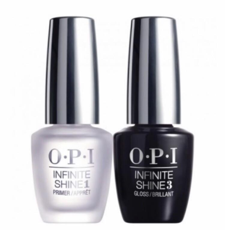 O.P.I Infinite shine base and top coat