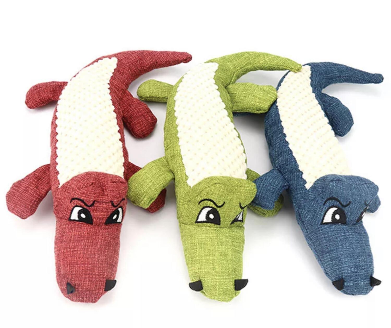 Squeaky Crocodile Dog Toy