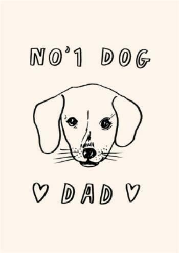 Dog Dad Father's Day Card - No.1 Dog Dad