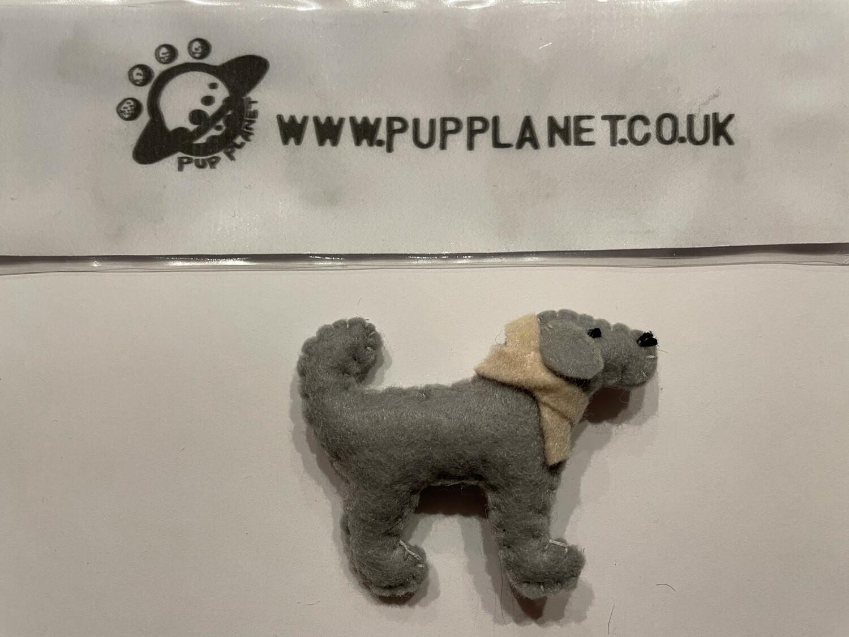 Handmade Pup Brooch By Mel - 001