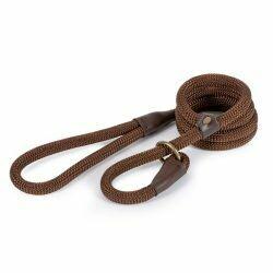 Ancol Luxury Rope Slip Lead Brown