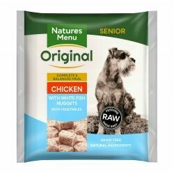 Natures Menu Original Chicken with White Fish Senior Nuggets with Vegetables