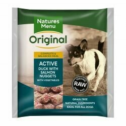 Natures Menu Original Active Duck with Salmon Nuggets with Vegetables