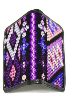 Vibrant Pattern Textile Passport Holder