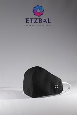 Unisex Washable Anti-Microbial Fabric Face Masks 3 Pack Kit - Black