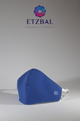 Unisex Washable Anti-Microbial Fabric Face Masks 3 Pack Kit - Blue