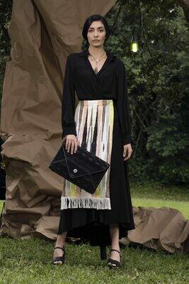 Nightfall Textile Pattern Envelope Clutch