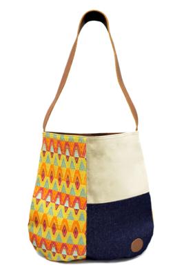 Velvet, Denim & Trópico Textile Shoulder Bag