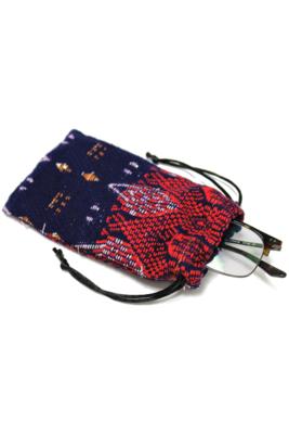 Vibrant Pattern Textiles Soft Glasses Pouch