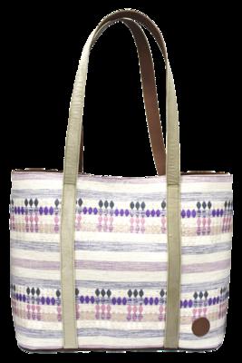 Velvet, Leather, & Lila Textile Shoulder Bag