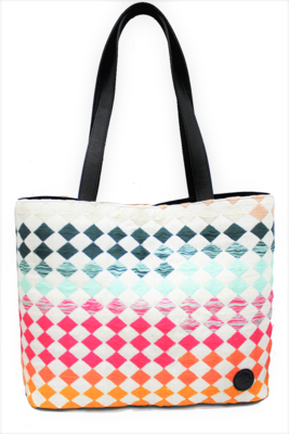 Velvet, Leather, & Rainbow Textile Shoulder Bag