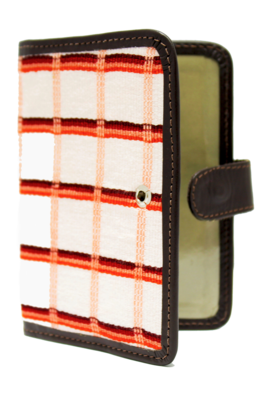 Vibrant Pattern Textile Passport Holder With Clasp