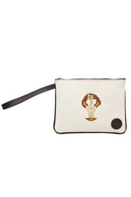 Maya Brown Nahual Wristlet Handbag