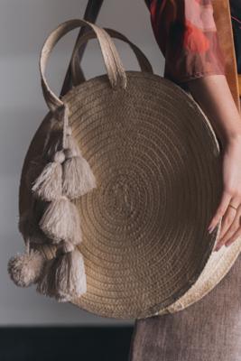 Organic Palm Fiber Crossbody Bag
