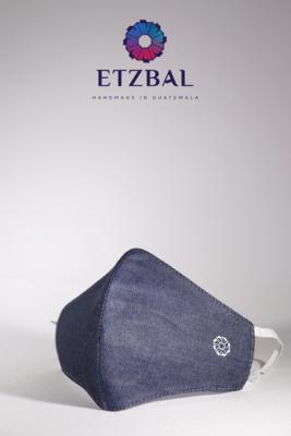 Unisex Washable Anti-Microbial Fabric Face Masks 3 Pack Kit - Denim