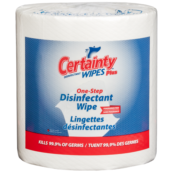 Certainty™ Plus Disinfectant Wipes (800 Count)