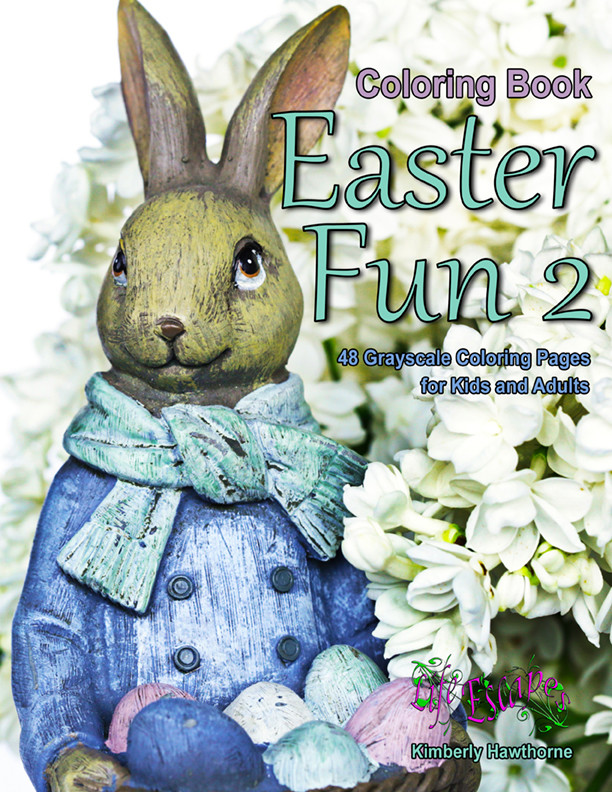 Easter Fun 2 Coloring Book for Kids and Adults PDF Digital Download