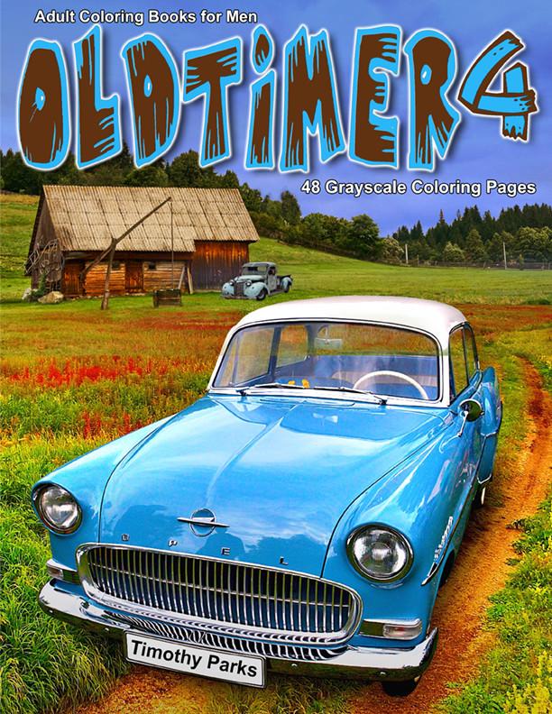 Oldtimer 4 Adult Coloring Book for Men PDF Digital Download