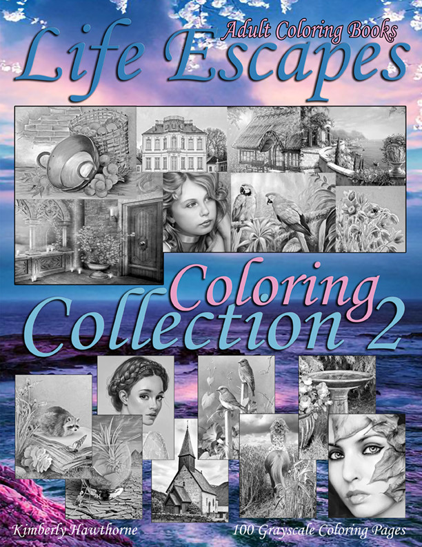 Life Escapes Coloring Collection 2 Adult Coloring Book PDF Digital Download