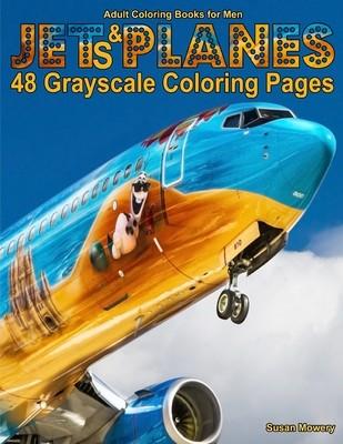 Jets & Planes Adult Coloring Book PDF Digital Download