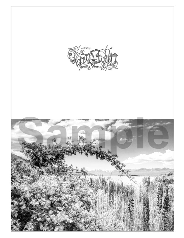 Any Time Coloring Greeting Card #G3 Digital Printout