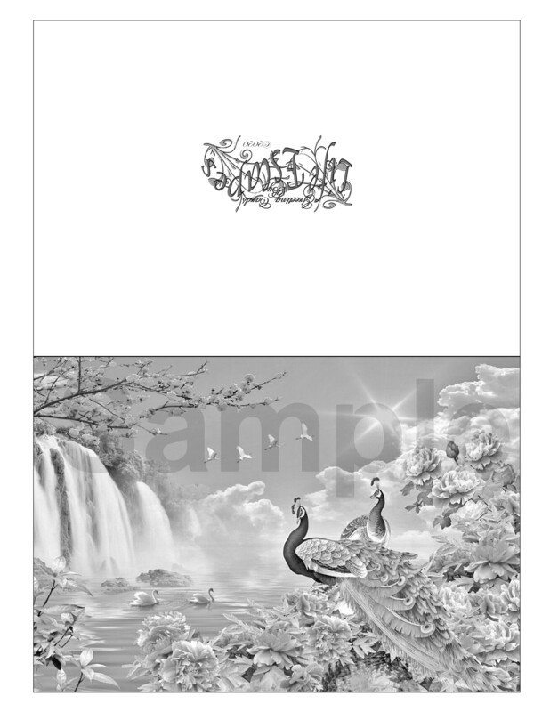 Any Time Coloring Greeting Card #G7 Digital Printout