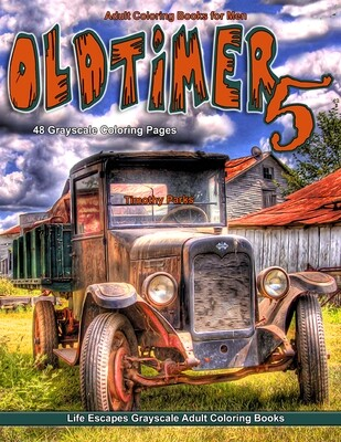 Oldtimer 5 Grayscale Adult Coloring Book PDF