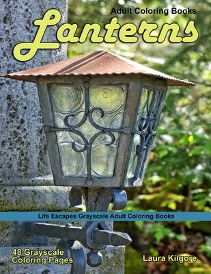 Lanterns Grayscale Adult Coloring Book PDF