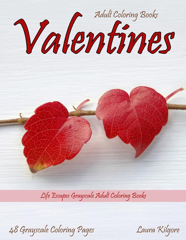Valentines Grayscale Adult Coloring Book PDF